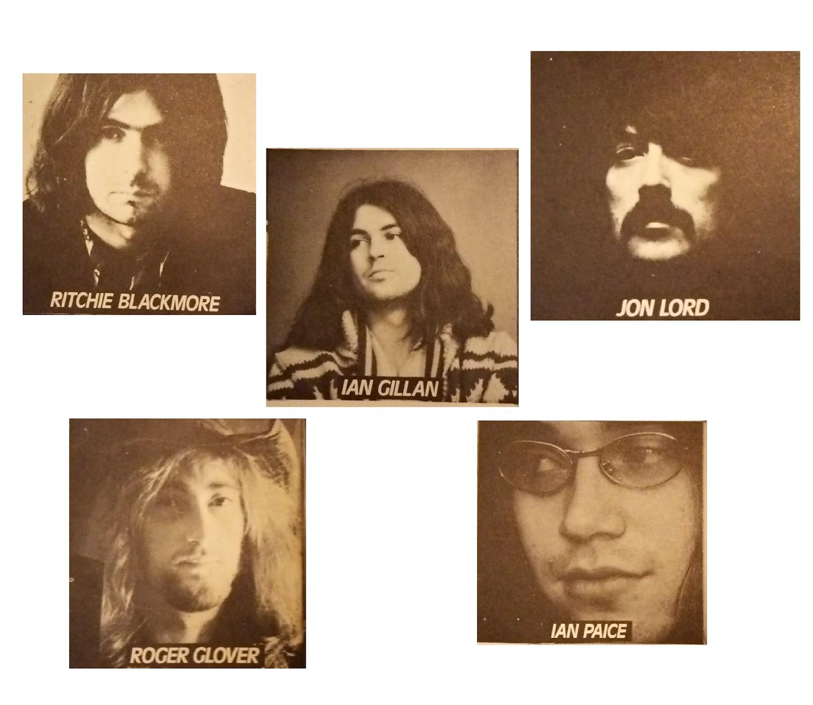 Deep Purple - Machine Head - members ディープ・パープル マシーン・ヘッド メンバー