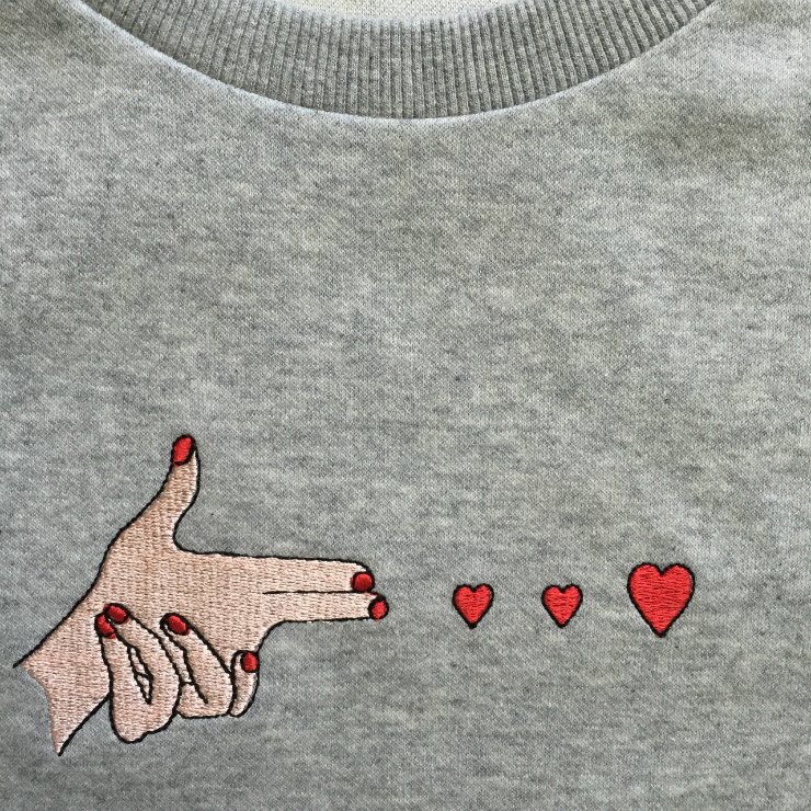 Tumblr inspirations // heart printed sweatshirt