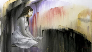 cuadros-con-mujeres-movimiento-en-color-abstracto pinturas-femeninas-arte-al-oleo