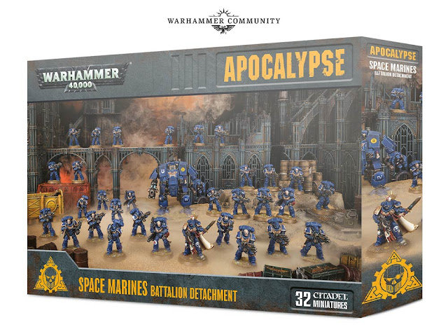 Space Marines Battalion Detachment 40k Apocalypse