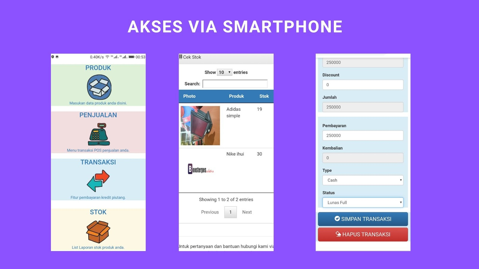 Aplikasi kasir toko shop online terbaru android iphone windows