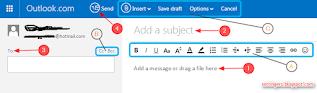 Cara mengirim email di hotmail Outlook terbaru