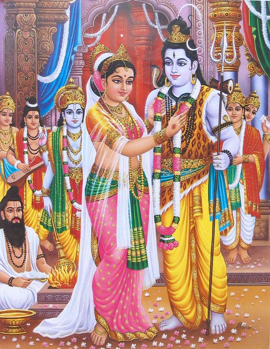 Shiva Parvati Marriage Photos | Hindu Devotional Blog