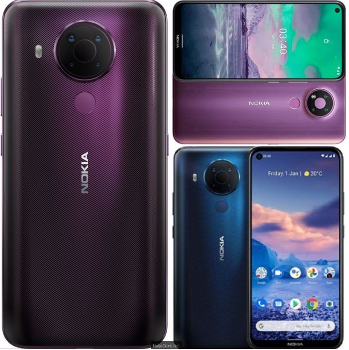 Nokia 5.4 Phone - Specs: Android 11 Ready, 128GB/4GB Memory, Snapdragon 662 SoC, 6.39Inch, 5Cam, 4000mAh Battery, 4G, Face Unlock..