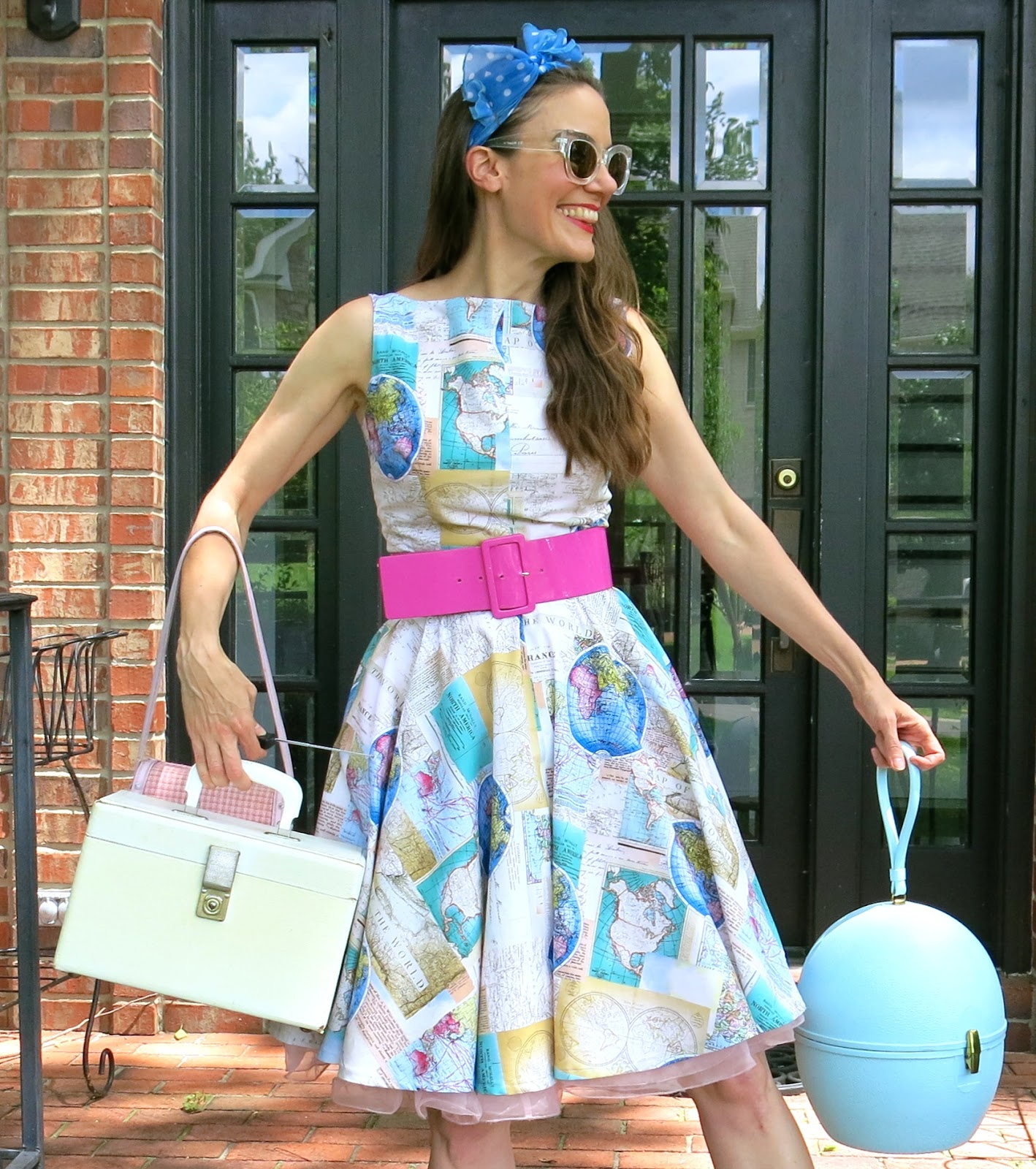 Cassie Stephens: DIY: A World Map Dress And Traveling Tips!