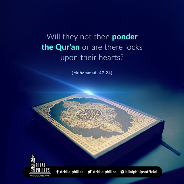 will they not then ponder the quran or are there lock upon their hearts
