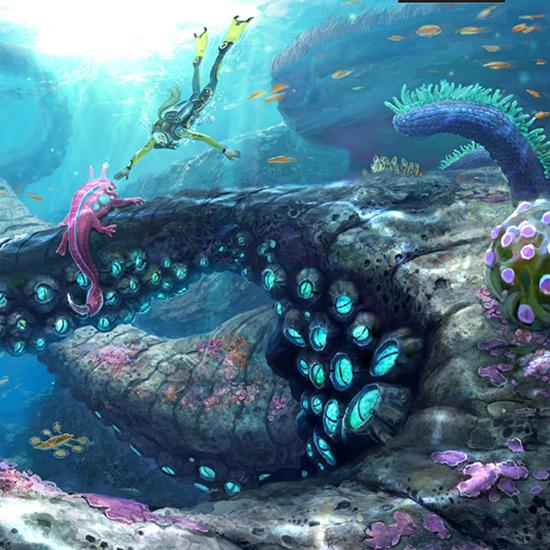 Subnautica Coral Reef Wallpaper Engine