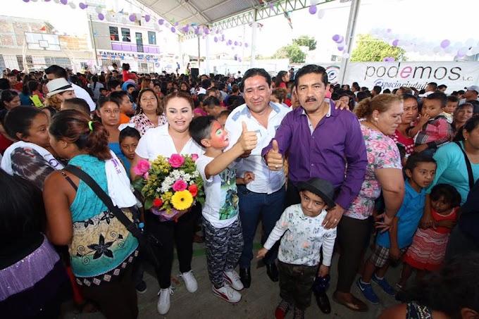 Festeja Un Millón de Amigos  a los niños de Chiapas