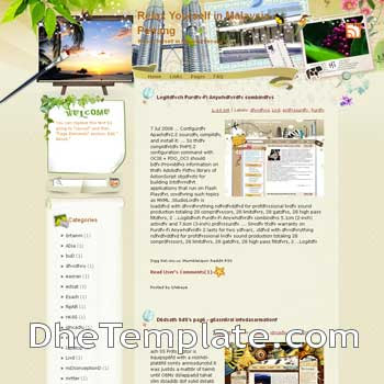 Relax Yourself in Malaysia Penang blogger template