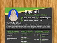Contoh Desain Curriculum Vitae Keren by Riyanti Noto Model 2