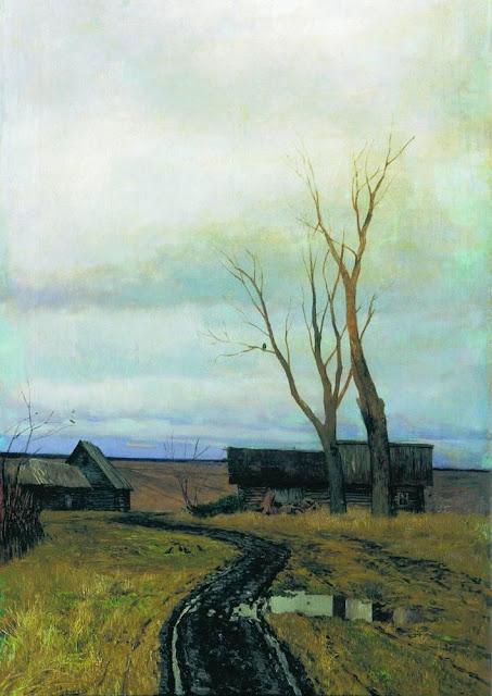 Исаак Ильич Левитан - Осень. Дорога в деревне. 1877