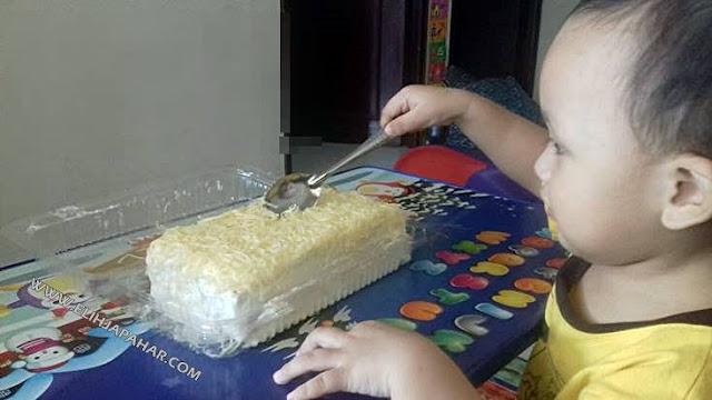Tempahan Kek Cheese Meleleh