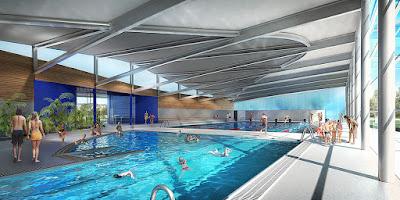 Perspective 3d piscine concours bassin loisir ludique