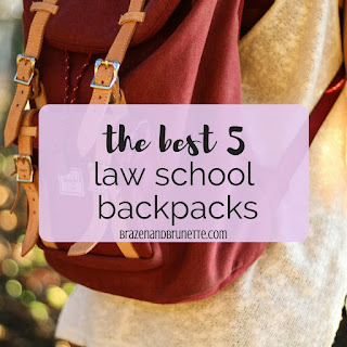 The Best Backpacks for Law School. the best 5 law school backpacks. law school backpacks under $100. New Backpacks for the New Semester. what to keep in your law school backpack. law school supplies. what backpack do I need for law school. | brazenandbrunette.com