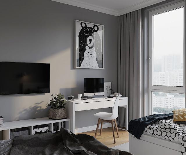 Thiết kế và thi công hoàn thiện nội thất căn hộ chung cư Velona Quận 2 - Phòng ngủ cho con trẻ