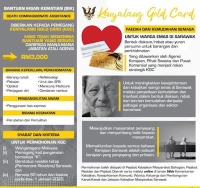 Senarai Bantuan Warga Emas 2020 Sarawak