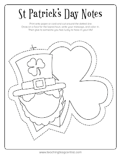 What a fun way to teach kids gratitude. Get them to fill out these fun St Patrick's Day Lucky Notes printable to send thank you cards, birthday wishes and more!