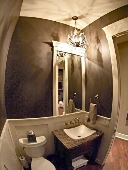 Half bathroom design ideas cozy pinkbungalow - 1 2 bath ideas ...