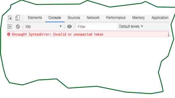 حل مشكلة Uncaught SyntaxError : Invalid or unexpect