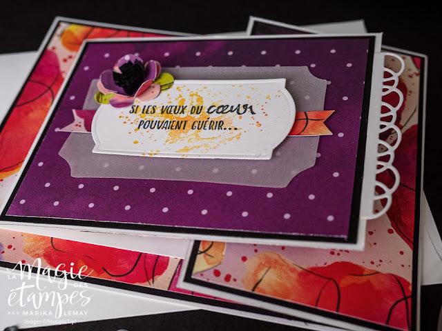 Carte à pliage original avec le jeu Painted poppies Stampin' Up! en vidéo!