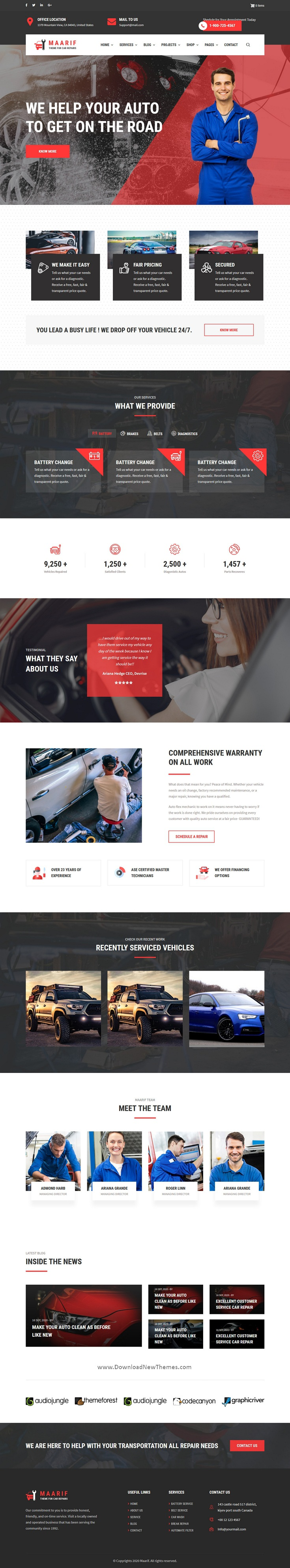 Car Service & Car Repair Drupal Theme