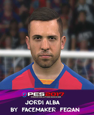 Jordi Alba Face For Pes 2017 by Feqan