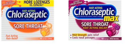 Chloraseptic sore throat relief strips