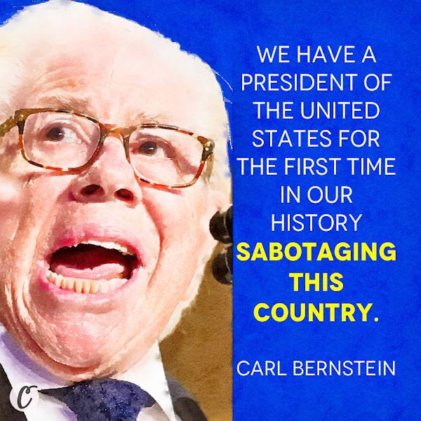 We have a President of the United States for the first time in our history sabotaging this country. — Carl Bernstein, one of the Watergate journalists