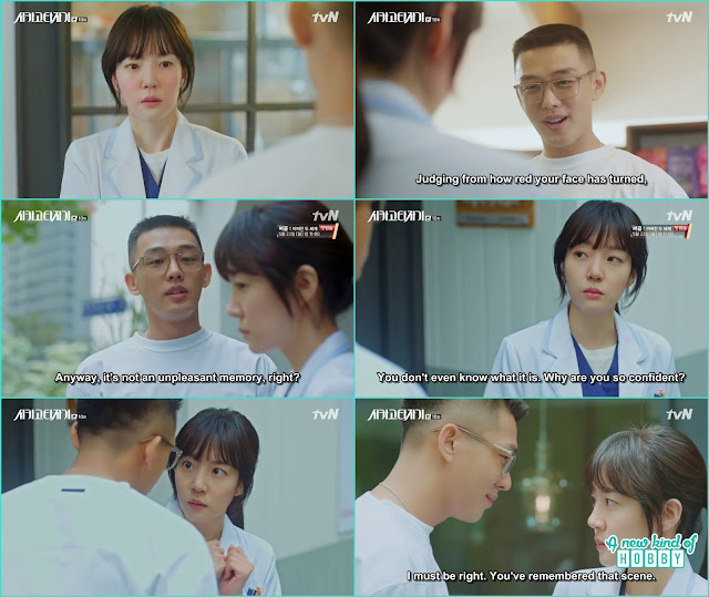 se joo tease jeon seol that she must remember that kissing part from the past -  Chicago Typewriter: Episode 10 korean drama