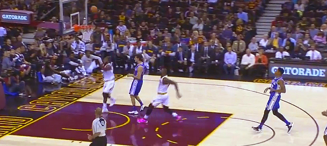 Kyrie Irving's Backboard Assist to LeBron James (VIDEO)