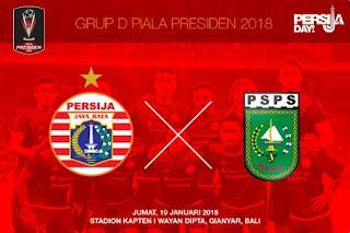 Susunan Pemain Persija vs PSPS - Piala Presiden 2018