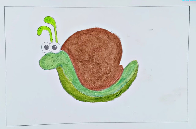 How to Draw a Snail | Cartoon Snail Drawing For Kids