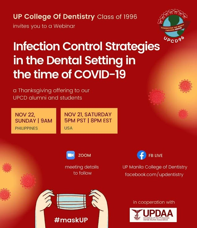 UPCD Class of 1996 and UPDAA Seminar: Infection Control Strategies In The Dental Setting.
