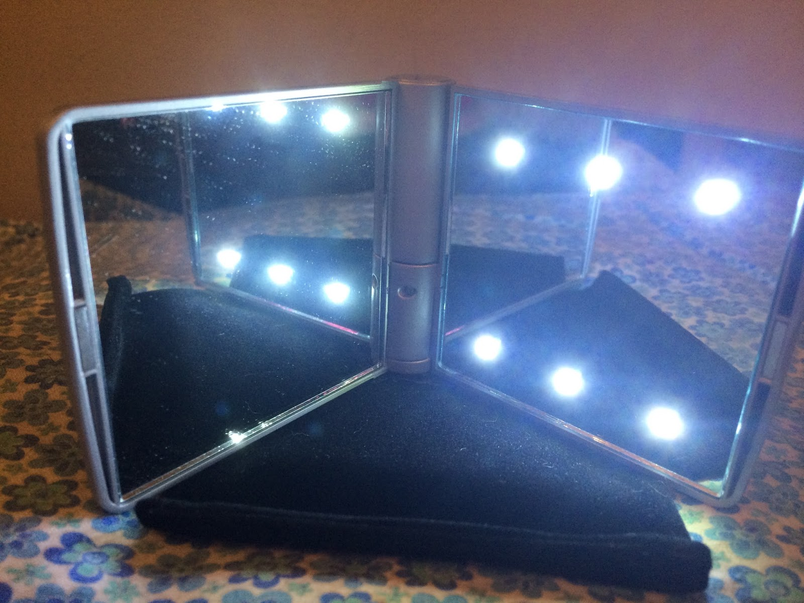 Pebble Grey LED Make-Up Mirror