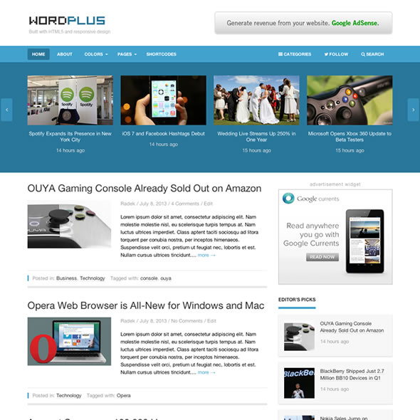Premium WordPress theme: Great responsive theme