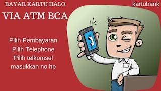 Mudahnya bayar kartu Halo di ATM BCA