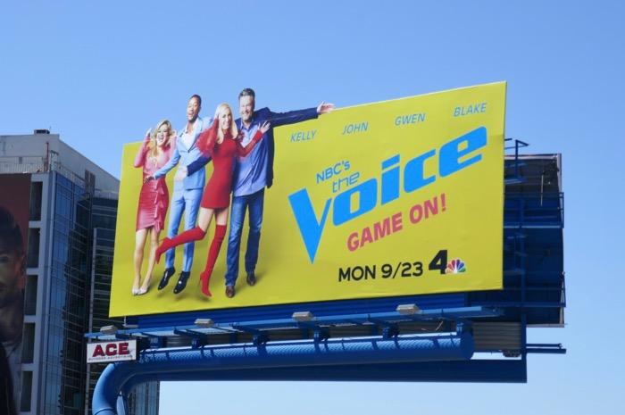 Voice season 17 cut-out billboard