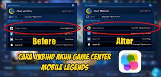 Cara Unbind Akun Game Center Mobile Legends