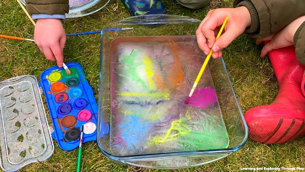 Painting on Ice - Painting with Watercolours