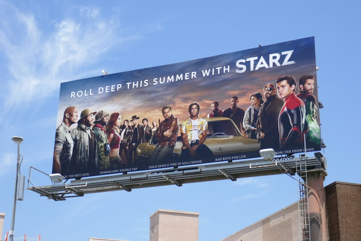 Starz summer movies billboard
