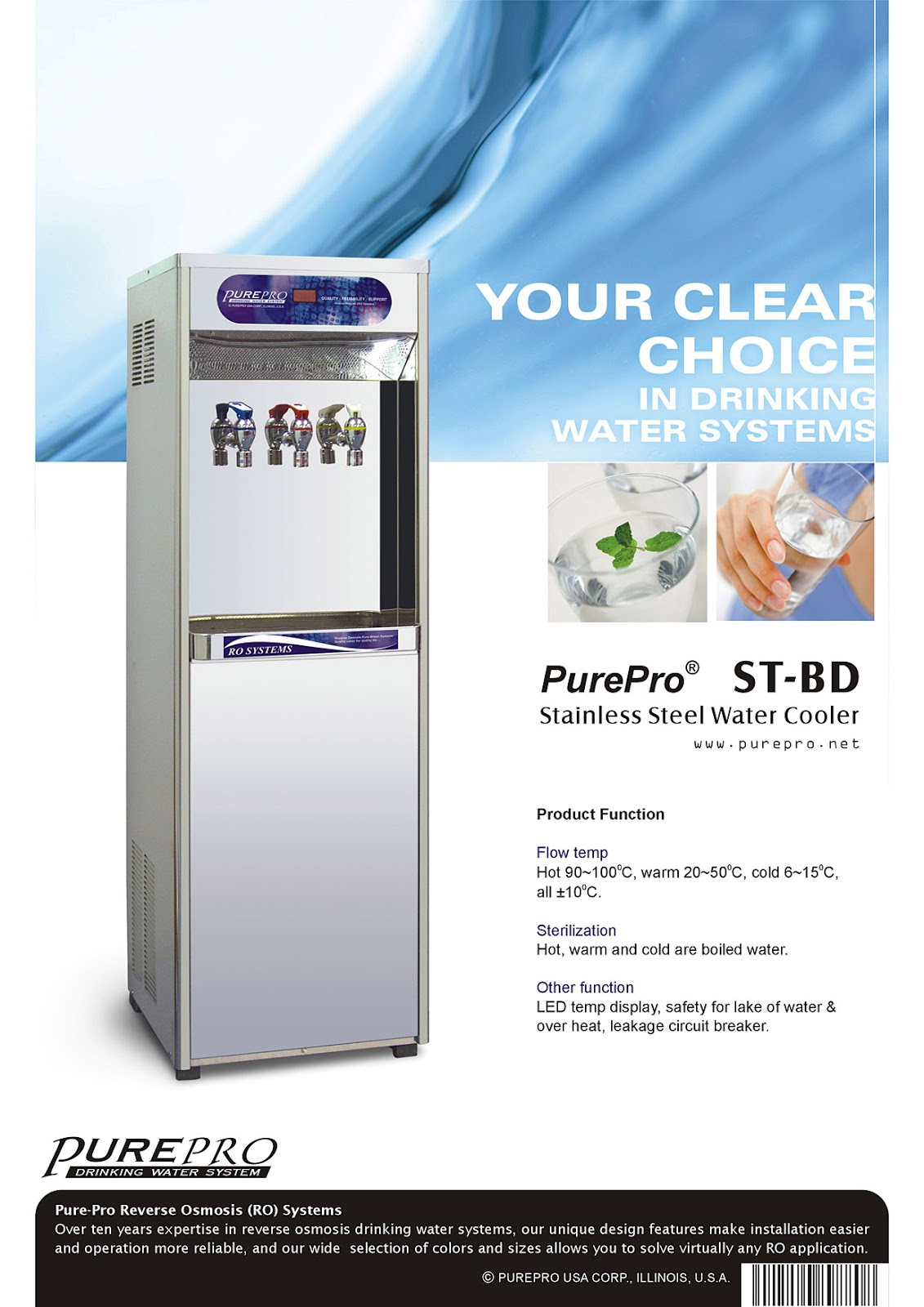 PurePro® ST-BD Reverse Osmosis Water Filtration System