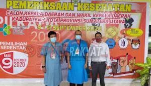 Empat Paslon Bupati dan Wakil Bupati Karo Resmi Mendaftar, KPUD Karo Gelar Cek Kesehatan