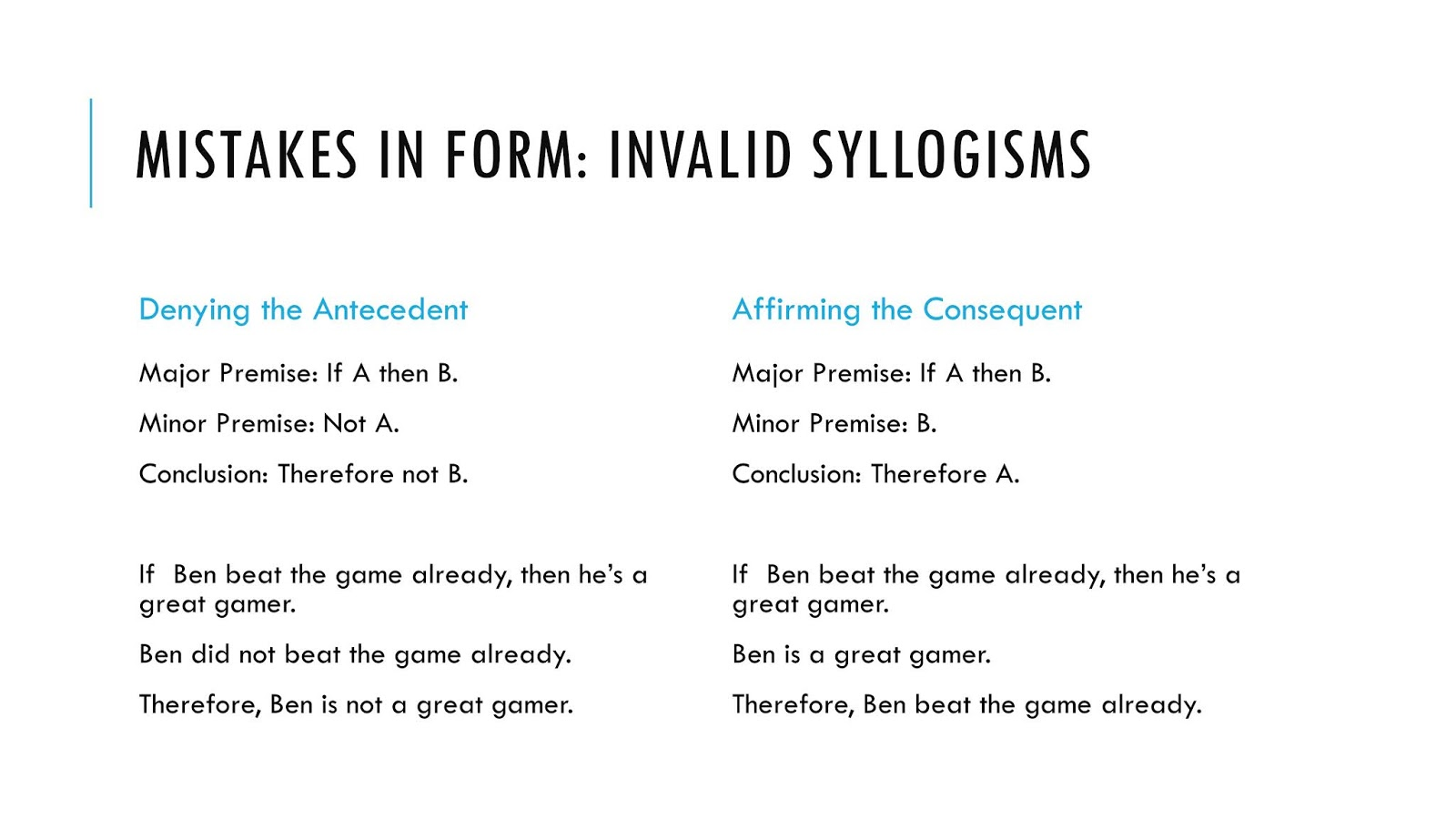 Amy Lynn Hess: Introducing the Syllogism by Example Example Example