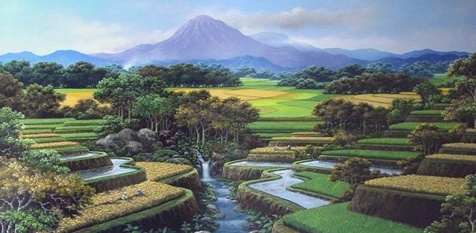foto foto lukisan alam