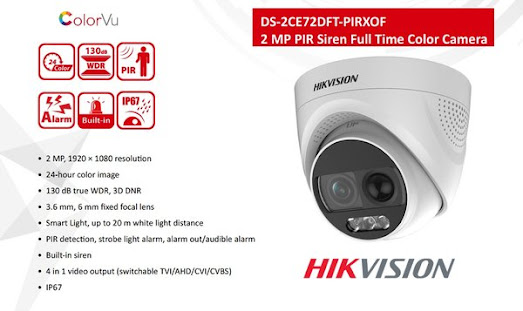 CCTV HIKVISION DS-2CE72DFT-PIRXOF 3.6mm