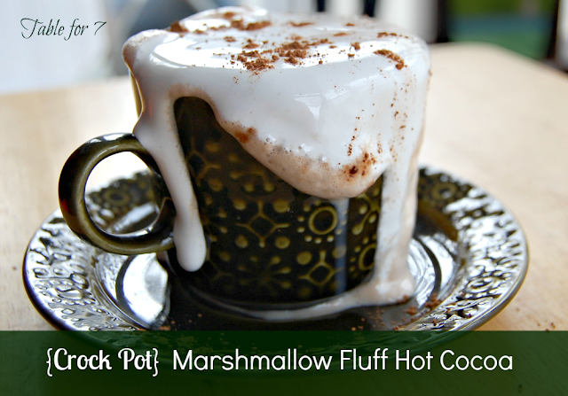 Crock Pot Marshamallow Fluff Hot Cocoa
