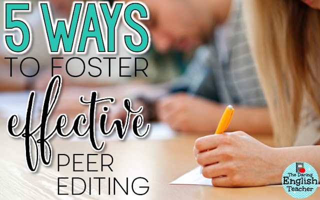 High school and middle school writing instruction: Effective peer editing activities