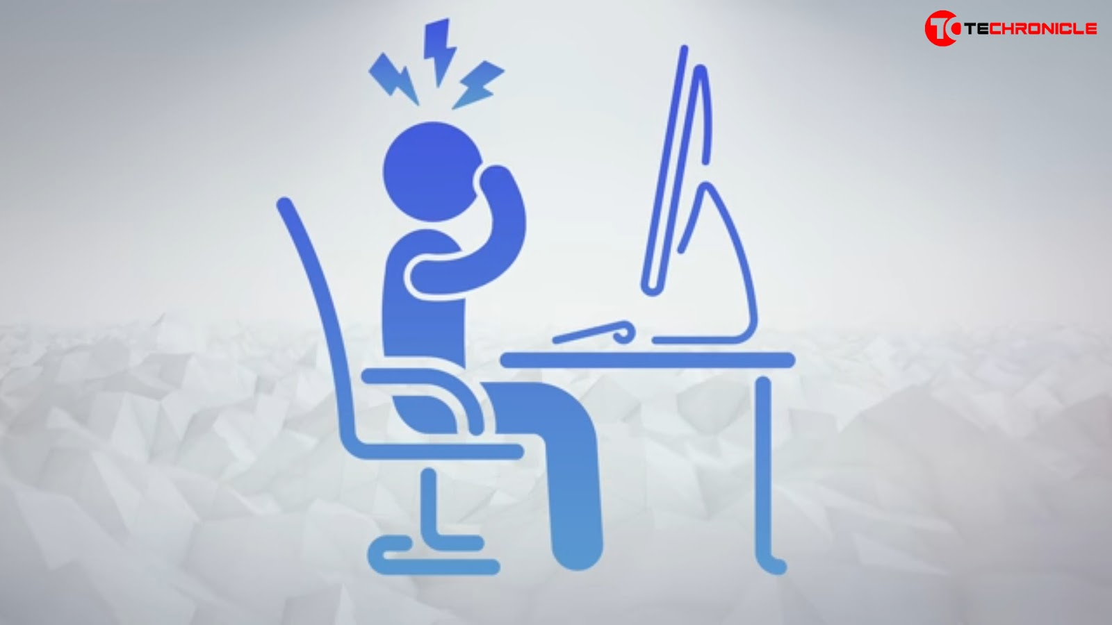 Man rubbing eyes laptop vector image Techronicle