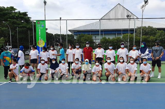 Hasil Pertandingan Invitasi Tenis Yunior Kelompok Putri Hari Kedua, 9 Maret 2021