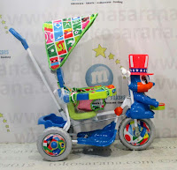 Sepeda Roda Tiga Royal RY8782CJ Magician Kanopi Jok Kain